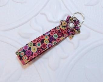 Key Chain Fabric Keychain Key Fob Keychain Wristlet Car Keys Accessory