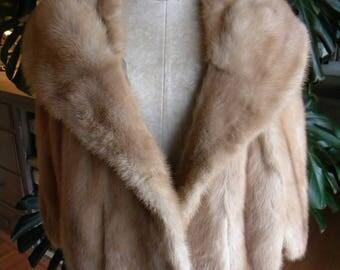 Pretty mink fur stole / cape / wrap / shrug / wedding / real fur / light fur