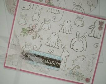 Easter Card, Easter Bunny Card, Handmade Easter Card, Easter, Happy Easter, Easter Bunny, Bunnies, Rabbits, Simple Easter Card