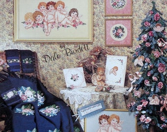 Cross Stitch Pattern   Dale Burdett   VICTORIANA   Cherubs   Florals   Jeanette Crews Designs   Counted Cross Stitch Booklet