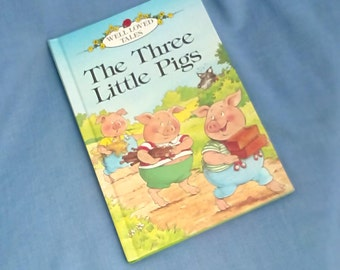 The Three Little Pigs - Vintage Ladybird Book Series 606D Well-Loved Tales Grade 1 - Glossy Covers Hardback