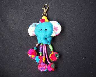 Thai handmade elephant Key-chain/ KC-036/Lobster keychain/Elephant keychain/Handmade keychain/Father's day gift for him/For dad/Summer keych
