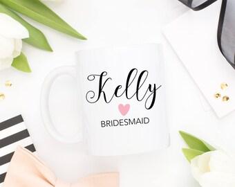 Bridesmaids Cups, Bridesmaids Mugs, Bridesmaid Gift, Bridesmaid Proposal Mugs, Wedding Mug, Personalized Bridesmaid Gift