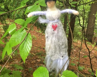 Custom Ogham Doll- Needle Felted Waldorf Doll