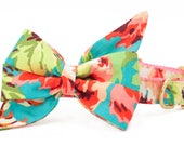 Crew LaLa™ Teal Bliss Belle Bow Dog Collar
