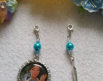 10 Pocahontas Zipper Pulls Party Favors