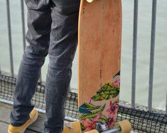 Handmade custom longboard // 100% ECO FRIENDLY // made from reclaimed timber