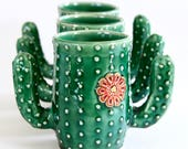 Cactus Mug - Succulent Cup - Coffee Tea Cup - Handmade Ceramic Pottery - MADE TO ORDER
