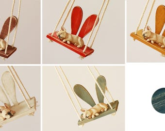 Vintage Bunny Swing - Blythe / JerryBerry doll furniture / accessory - 6 colors in