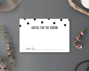 Instant Download - Advice for the Groom Card - Chelsea Collection