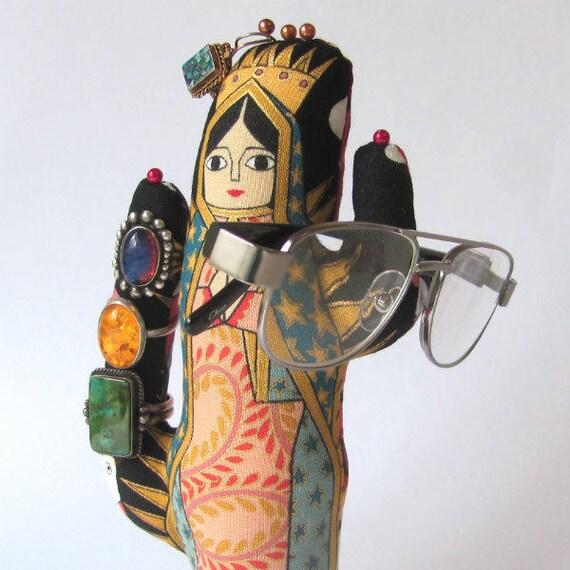 Tall La Virgencita Saguaro CACTUS-Stand ~ Jewelry Display ~ Ready to Ship