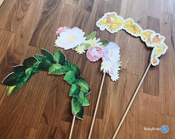 Photo Props: Snapchat Crown Filter Inspired 3 Pcs Set - party wedding birthday engagement twitter instagram app icon stick snap chat