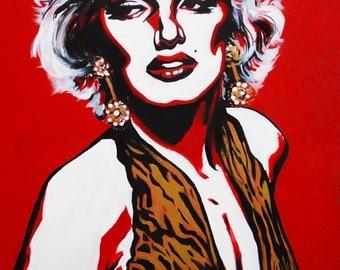 Marilyn Monroe Art Print - matted 5x7