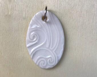 Textured Porcelain Pendant