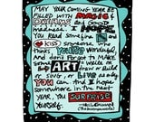 Note Card - Good Madness - neil gaiman quote - illustration by anne leuck