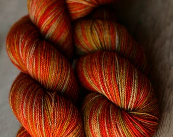"Sock yarn - 70/20/10 SW Merino/Yak/Nylon - Autocorrect - ""Scandalous Eggs """