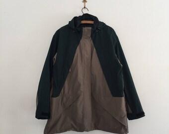 Vintage 90's Land's End Hooded Windbreaker Jacket XL