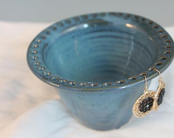 Earring bowl - jewelry organizer - blue - gift for girl