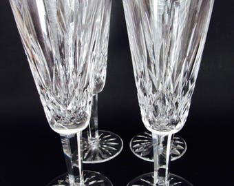 Waterford Crystal Lismore Champagne Flute  Glasses, Set of 4