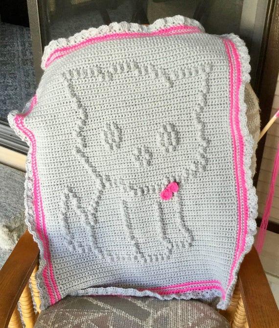 Little Kitty Crochet Baby Blanket Pattern - Baby Blanket Pattern - Blanket Pattern