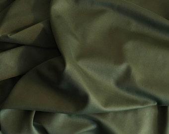 Army Green Lycra Stretch Fabric