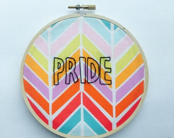 PRIDE Modern Embroidery Human Rights Campaign Charitable Art