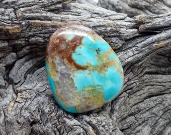 Bisbee Turquoise Stabilized Handmade Cabochon