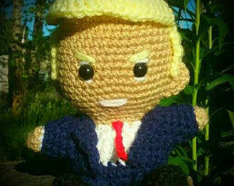 Donald Trump Inspired Amigurmi Doll - PATTERN ONLY