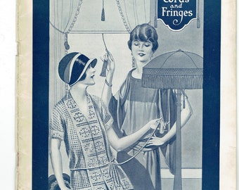Clarks O.N.t. Designs Bk. No. 21 For Tassels, Cords and Fringes 1924 Crochet Projects
