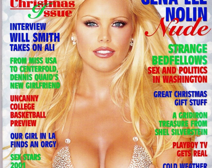 Playboy Magazine December 2001 with Gena Lee Nolin, Blonde Victory, Will Smith, Catherine Bell, Miss Las Vegas, The Price is Right