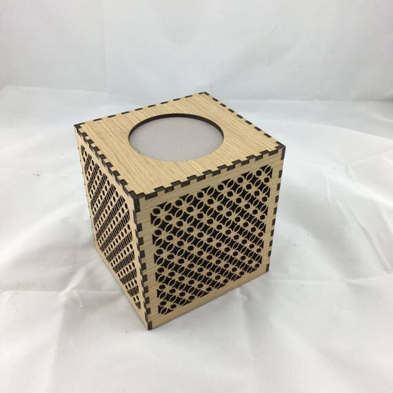 Tissue Box Cover, Moroccan themed. Woodgrain, Laser Cut. FREE SHIPPING Australia Wide.
