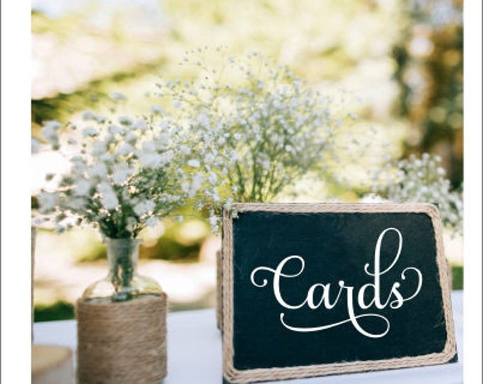 Wedding Cards Decal Vinyl Decal Small Cards Decal Wedding Decor Small Cards Decal for Chalkboard Decal for Wedding Mailbox DIY Wedding Decor