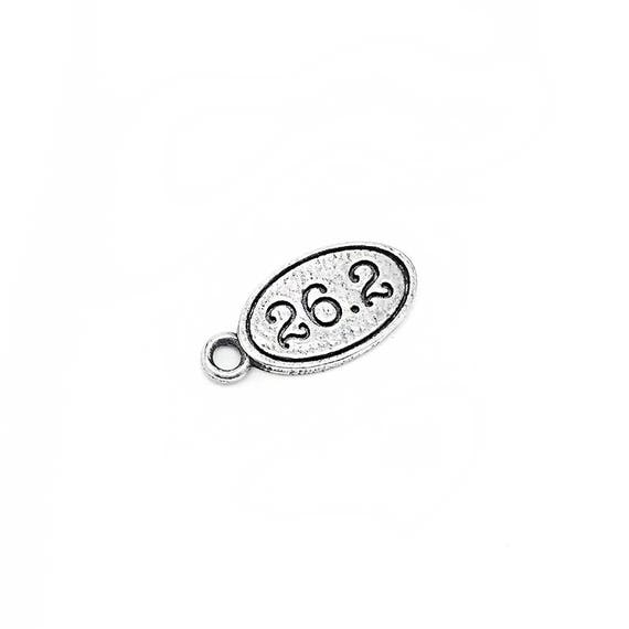 26.2 Marathon Charm for Runners - Athlete - Fitness Jewelry - Fitness Accessories - Pewter Nickel-Free Charm - Hypoallergenic