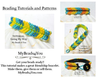 Beading Tutorial, Beaded Bracelet Pattern, Beadweaving Tutorial, Pattern,Seed Bead Tutorial, PDF Beaded Bracelet Pattern, DIY Beaded Jewelry