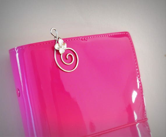 Planner clips and charms paper clip travelers notebook flower charm TN accessories suplies Personal planner decoration