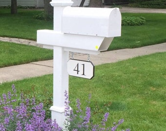 Custom 2 number engraved sign, 2 sided option available