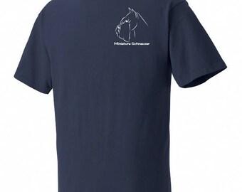 Miniature Schnauzer Garment Dyed Cotton T-shirt