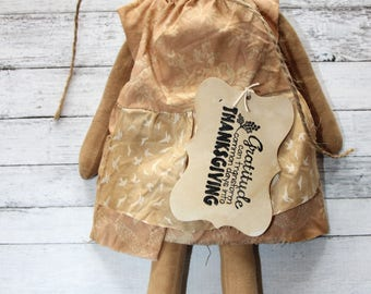 Primitive Prairie Doll/Pilgrim Doll/Thanksgiving Ragdoll