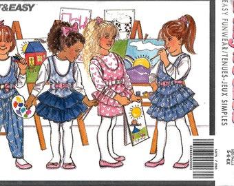 Butterick Busybodies 5075 Children's Jumper, Jumpsuit And Top Pattern,  5-6X, UNCUT