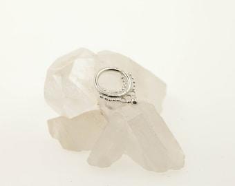 Silver septum ring