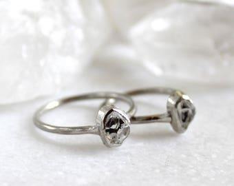 20% OFF SALE herkimer diamond ring,  diamond ring, herkimer diamond, herkimer ring, sterling silver ring, recycled silver, alternative engag