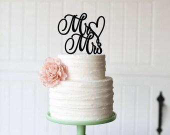 Custom Wedding Cake Topper, Mr and Mrs Cake Topper for Wedding, Personalized Wedding Cake Topper, Topper for Wedding Cake, Mr and Mrs Topper