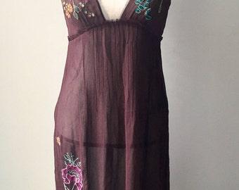 Vintage Boho style sheer dress