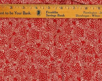 Brick Red Fabric, Alan J Naness Bali 1.25 yd Screen Print