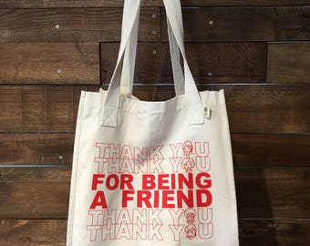 Thank you for being a friend, thank you, Golden Girls, Market Tote, Stay Golden, Organic Cotton, Canvas, Reuseable