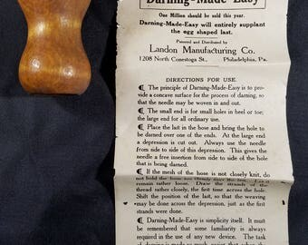 Vintage Darning-Made-Easy Non-Egg With Instructions