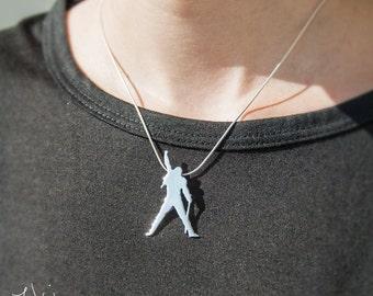 Freddie Mercury pendant, hand made Pendant, Queen jewellery, Freddie Mercury jewellery, Freddie Mercury gold pendant, Freddie Mercury