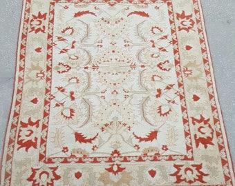 6 by 7 rug / Vintage Oushak Rug / Vintage Rug / Oushak Area Rug / Turkish Vintage Rug / Oushak Rug / Area Rug / Boho Rug / Low Pile Rug