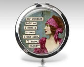 Custom Compact Mirror, Magnifying Mirror, Funny Makeup Mirror Gift for Her Personalized Compact, Friend Gift, Funny Gift Compact Mirror C92