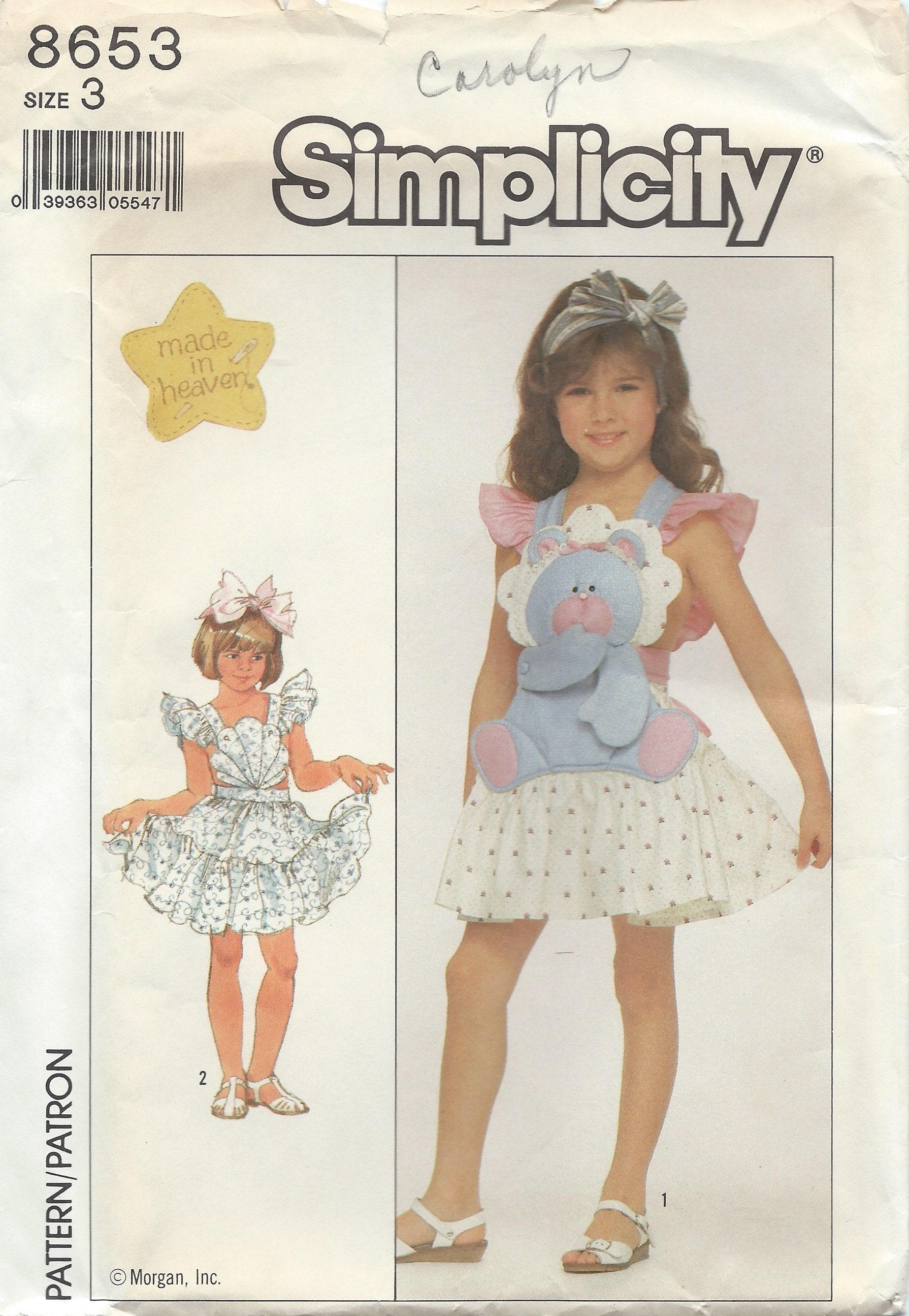 Uncut girls dress sewing pattern simplicity 8653 size 3 summer 595 jeuxipadfo Images
